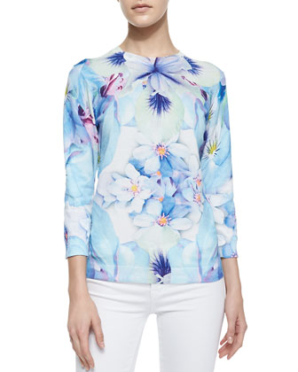 Natalay Natural Kingdom Floral Print Top