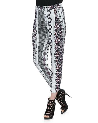 Devlin Ikat Chain-Link Print Pants