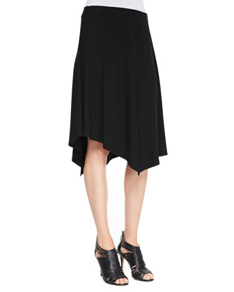 Jersey Handkerchief-Hem Skirt, Women's