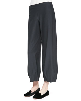 Lantern Wide-Leg Ankle Pants