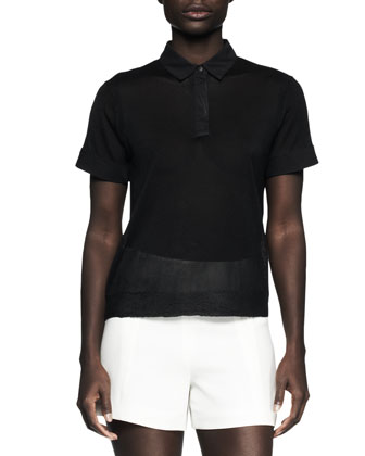 Ellie Semisheer Polo Shirt