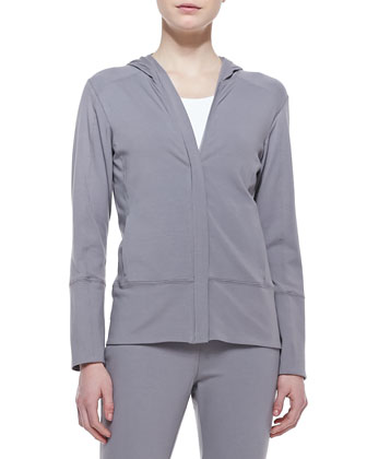 Organic Stretch Hooded Jacket, Petite