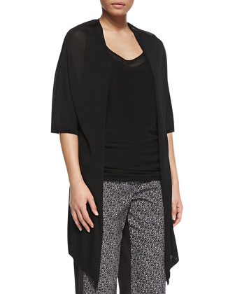 Mirto Knitted Drape Jacket, Women's