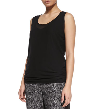 Zebra Sleeveless Tank Top, Women's