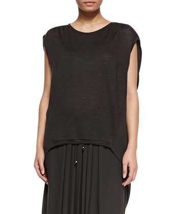 Zigzag Jersey Asymmetric Top, Women's