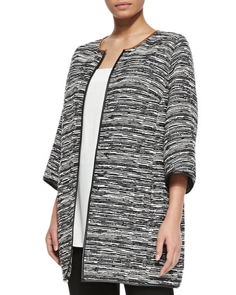 Cavo 3/4-Sleeve Long Jacket, Zambrone Pleated A-line Top & Restante Skinny ...