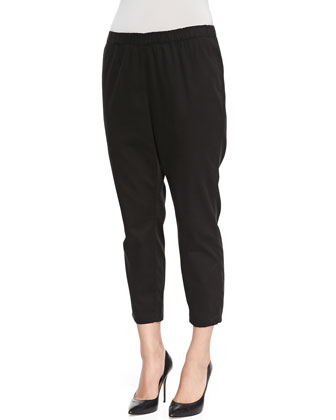 Romolo Black Skinny Pants, Women's