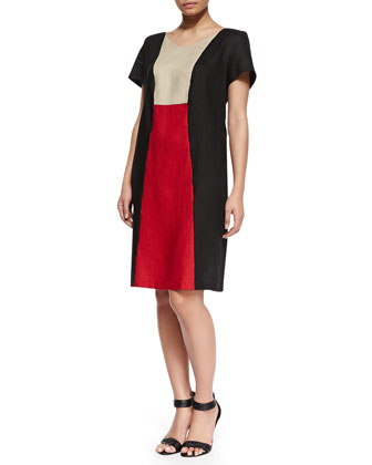 Erice Colorblock Short-Sleeve Dress, Women's