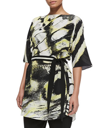 Filomena Printed & Belted Jacket, Women's