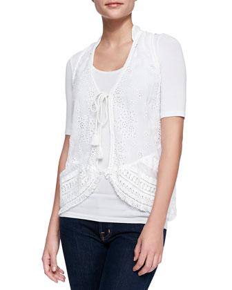 Floral Tassel Vest, Women's