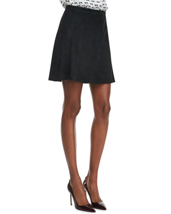 Lonati Perforated Leather Skirt