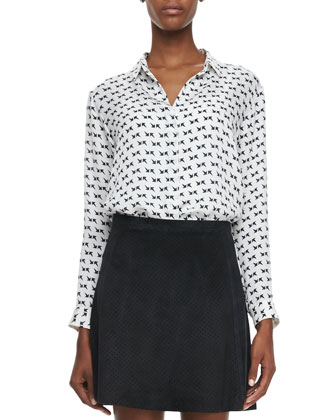 Aquilina B Arrow-Print Blouse