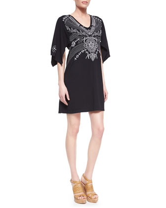 Tamar Embroidered Kimono Dress