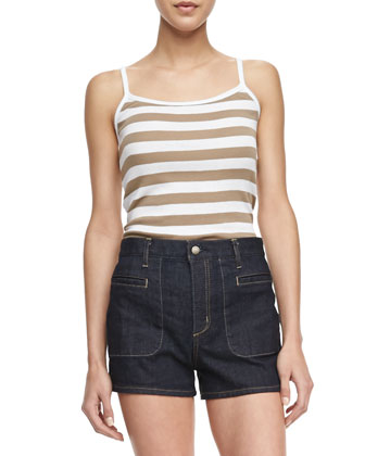 Trissa Striped Knit Tank