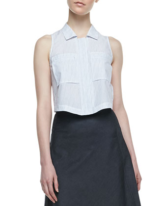 Gemia Sleeveless Blouse & Lonai D Knee-Length Skirt