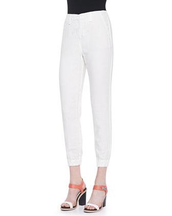 Linen Pajama-Style Pants