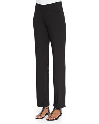 Organic Cotton Yoga Pants, Black