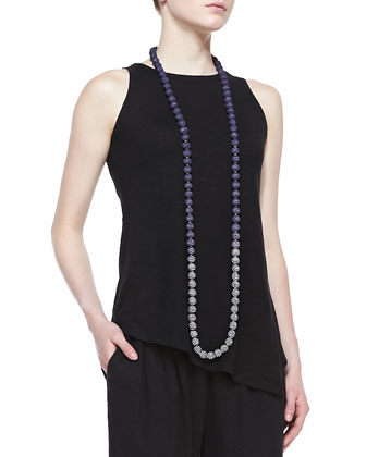 Hemp/Organic Cotton Shell, Jersey Pants & Mini Striped Beaded Necklace, Women's