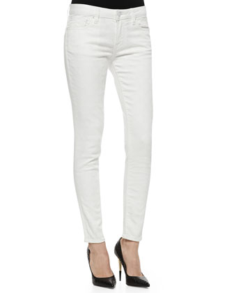 Florence Textured Skinny Jeans, White