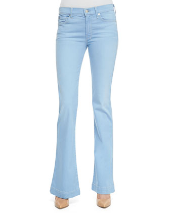 Slim-Fit Flared Denim Trousers