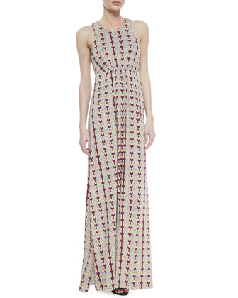 Siri Draped Batwing-Sleeve Cardigan & Phillipa Dart-Print Maxi Dress