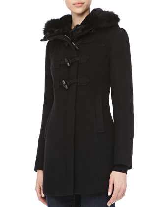 Randi Basket-Weave Toggle Coat