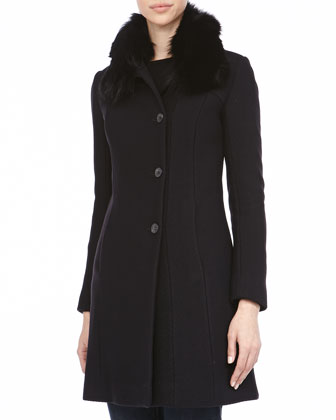 Posh Luxe Honeycomb Textured Coat, Black