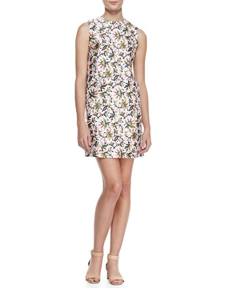 Esmeralda Floral Silk Dress