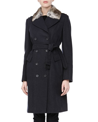 Faith Double-Breasted Belted Trench Coat