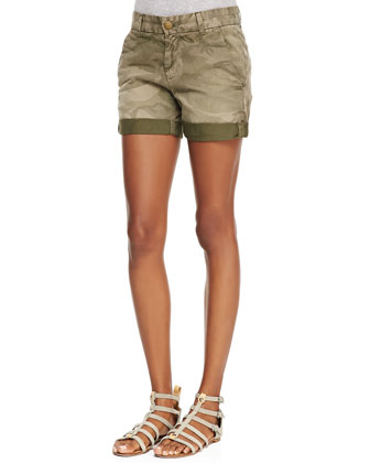 Slub V-Neck Tee and Captain Rolled Camo Shorts