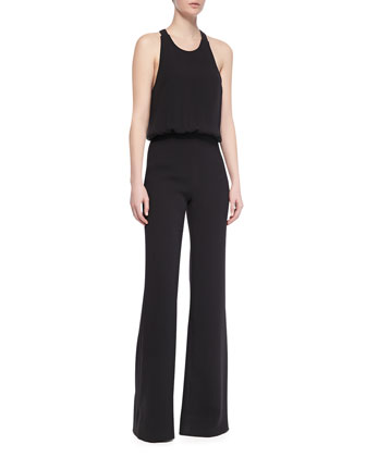 Wide Leg Halter Jumpsuit, Black