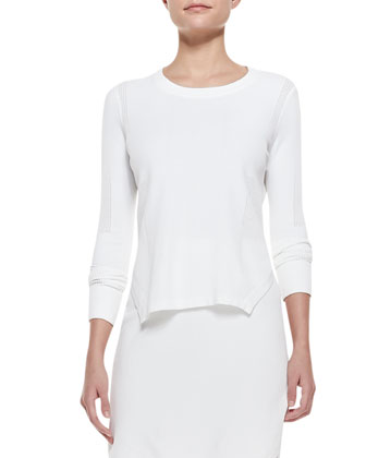 Ellen Side-Slit Knit Sweater