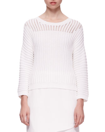 Marsha Squiggle Knit Sweater & Maryse Notched Crossover Skirt