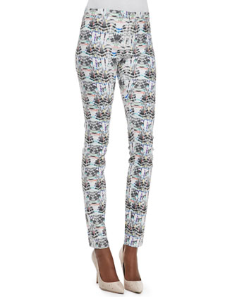 Pitella Mixed-Print Straight-Leg Leggings