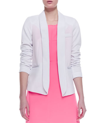 Open-Front Knit Blazer