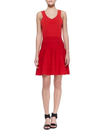 Ribbed Knit Sleeveless Dress