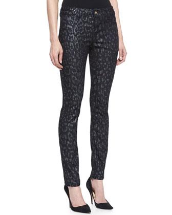 Leopard-Print Jeans