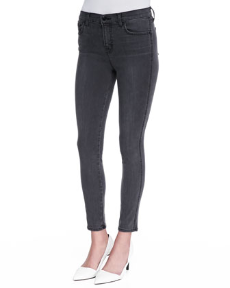 Bree Skinny Cropped Jeans, Night Bird Black