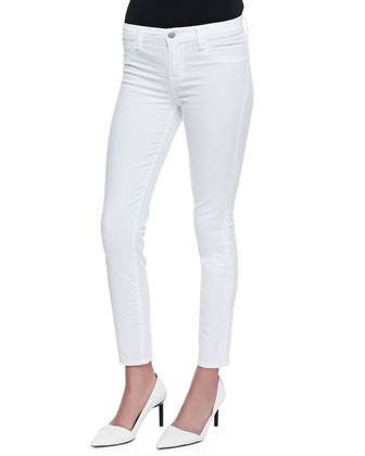Skinny Cropped Rail Jeans, White