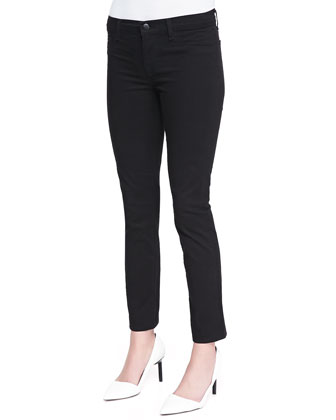 Skinny Cropped Rail Jeans, Black