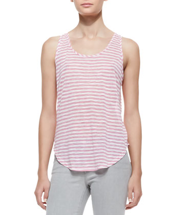 Shore Stripe Bell Tank Top