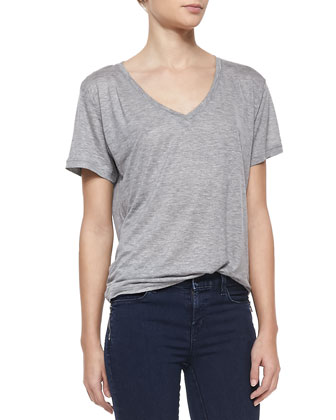 Janis V-Neck Jersey Tee