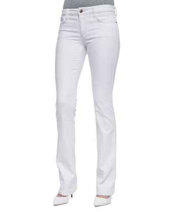 Pennie Boot-Cut Jeans, Optic White