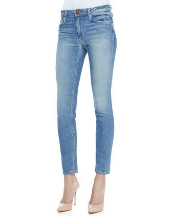 Margo Skinny Ankle Jeans, Light Blue