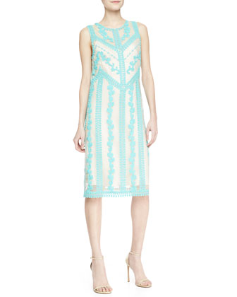 Breathless Sheer Embroidered Dress
