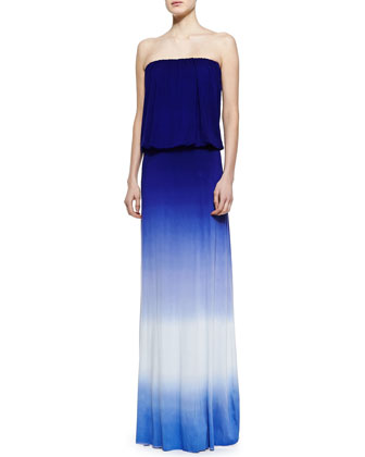 Sydney Strapless Ombre Maxi Dress