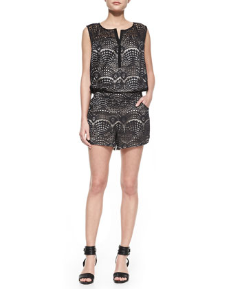 Gym Shorts Lace Jumpsuit