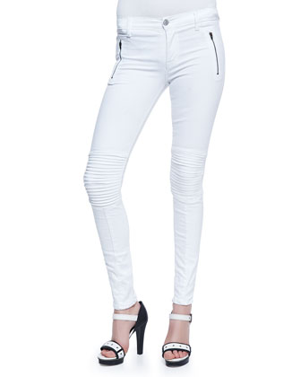 Skinny Moto Zip Jeans