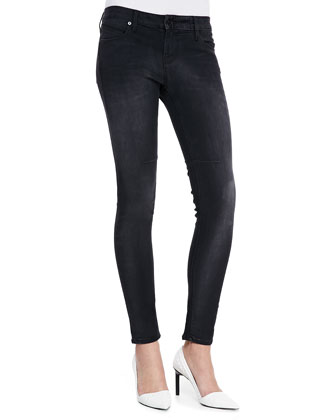 Basic Skinny Jeans, Faded Black
