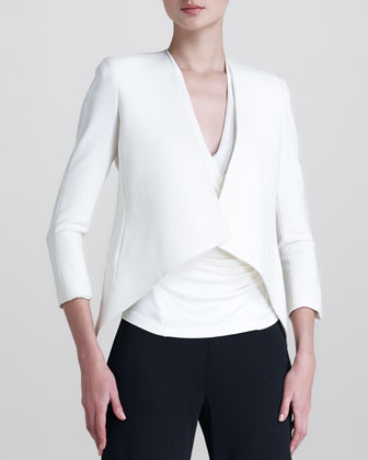 Matte Stretch Cardigan Jacket